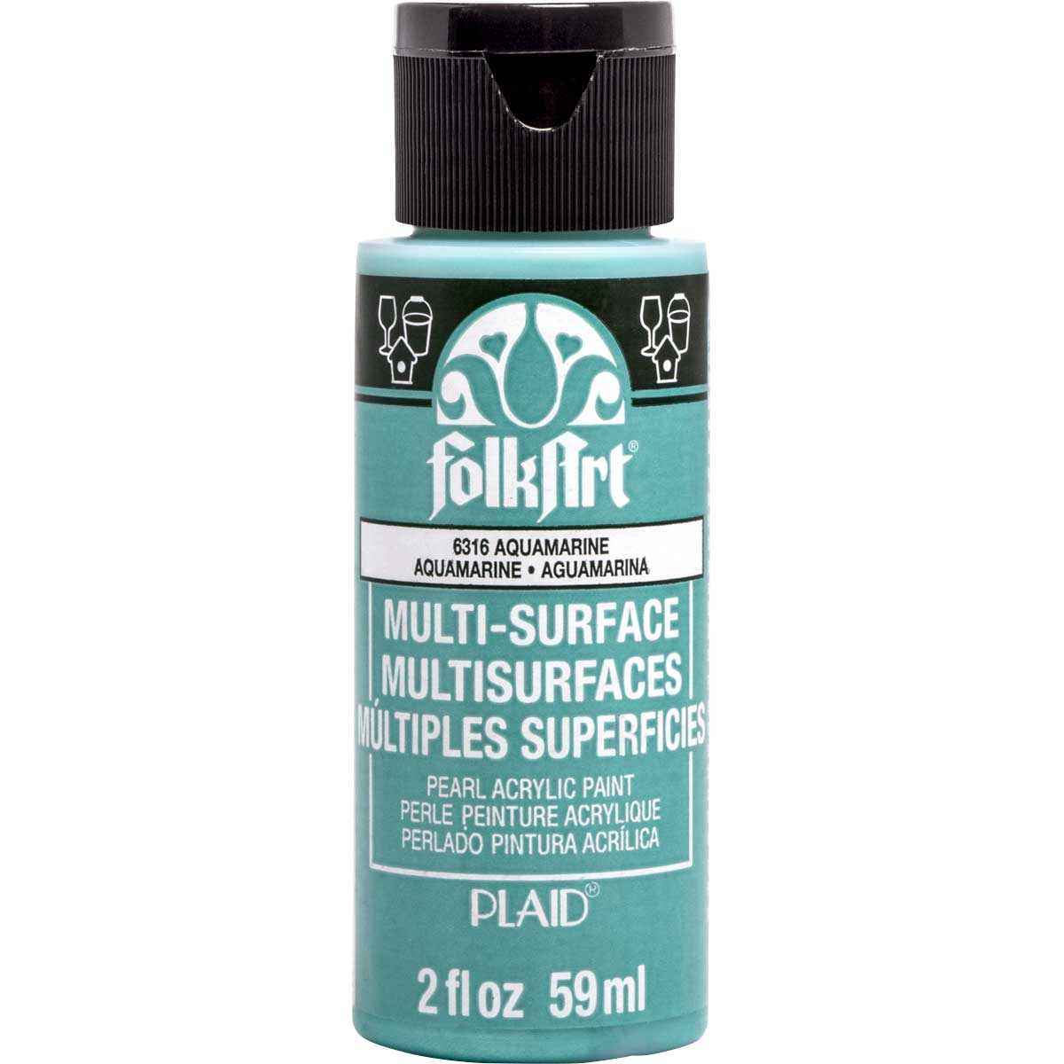 FolkArt ® Multi-Surface Pearl Acrylic Paints - Aquamarine, 2 oz. - 6316