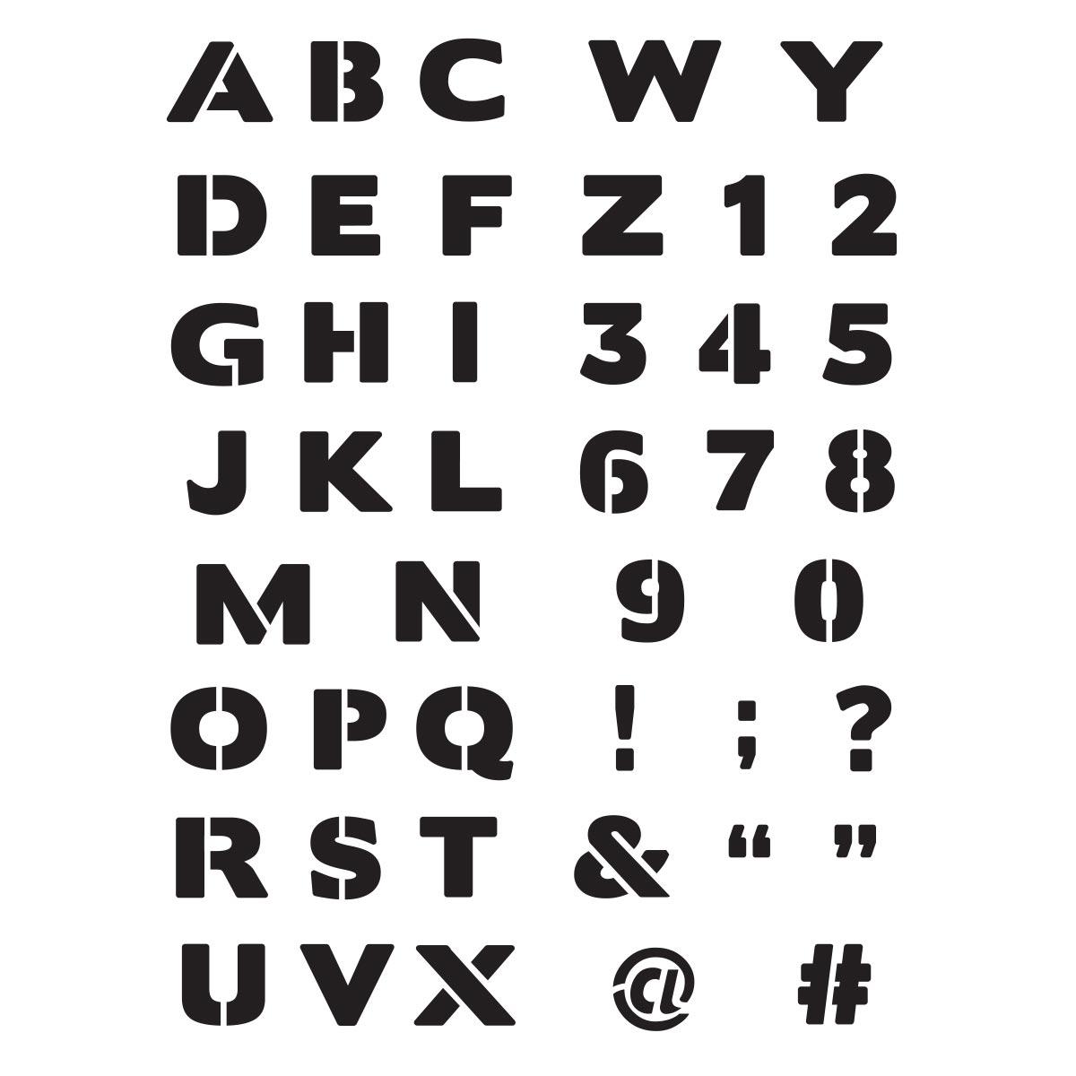 Shop Plaid Delta Creative™ Stencil   Block Letter Alphabet