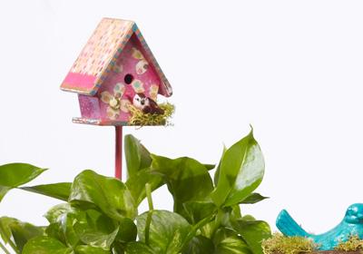 Birdhouse Stake