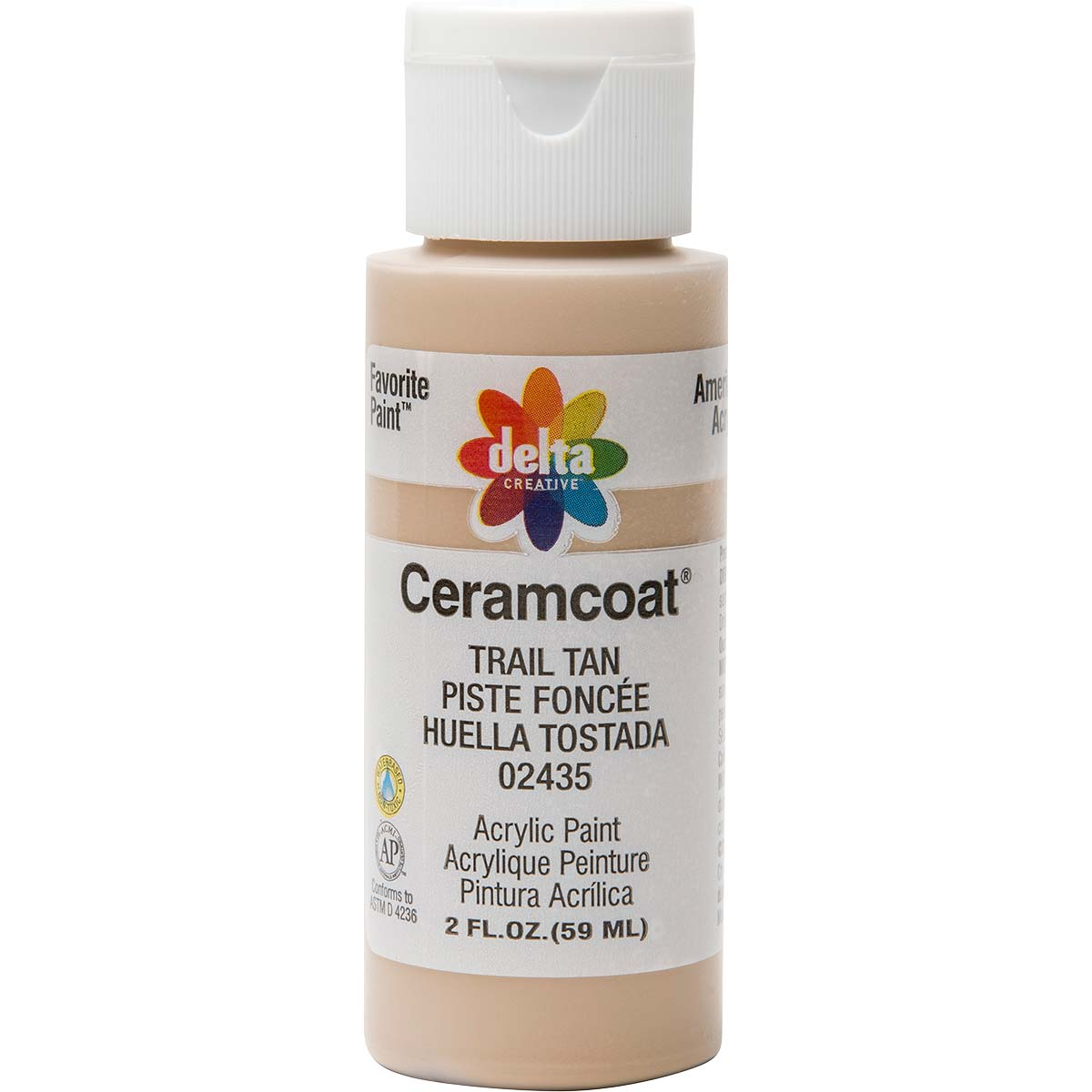 Delta Ceramcoat ® Acrylic Paint - Trail Tan, 2 oz.