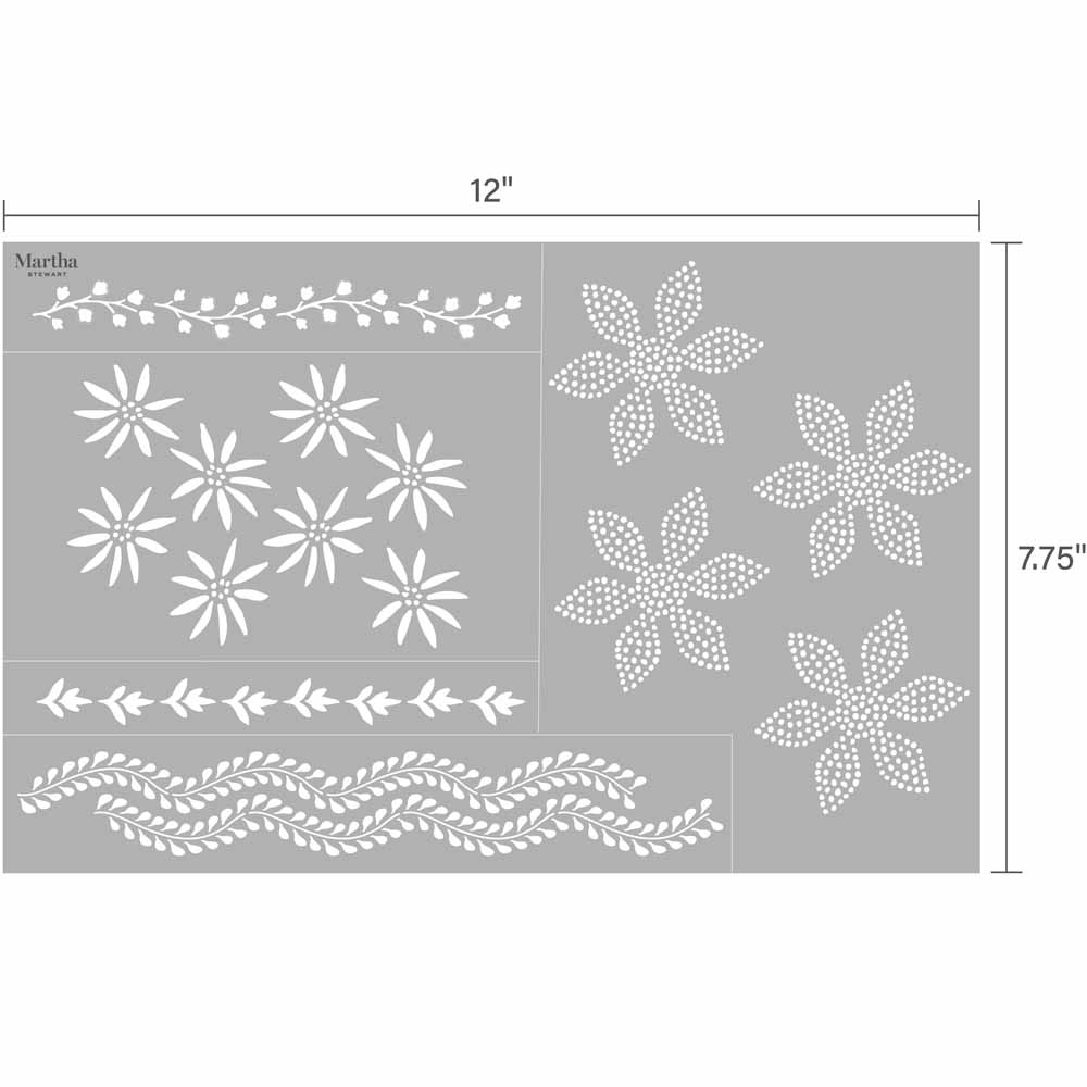 Martha Stewart ® Adhesive Stencil - Indigo - 5983