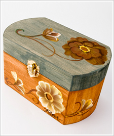 Trinket Box with Peonies
