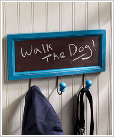Chalkboard Coat & Leash Rack