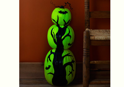 Glow-in-the-Dark Pumpkin Tree