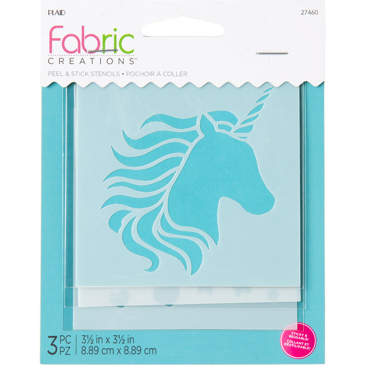 Fabric Creations™ Adhesive Stencils - Small - Unicorn, 3-1/2