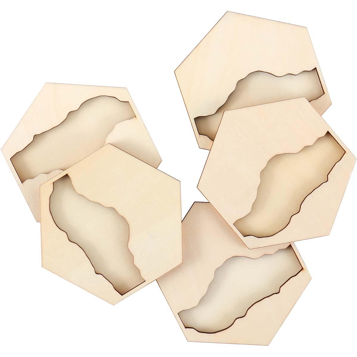 Mod Podge ® Resin Pouring Surface - Hexagon River Coasters - 56934E