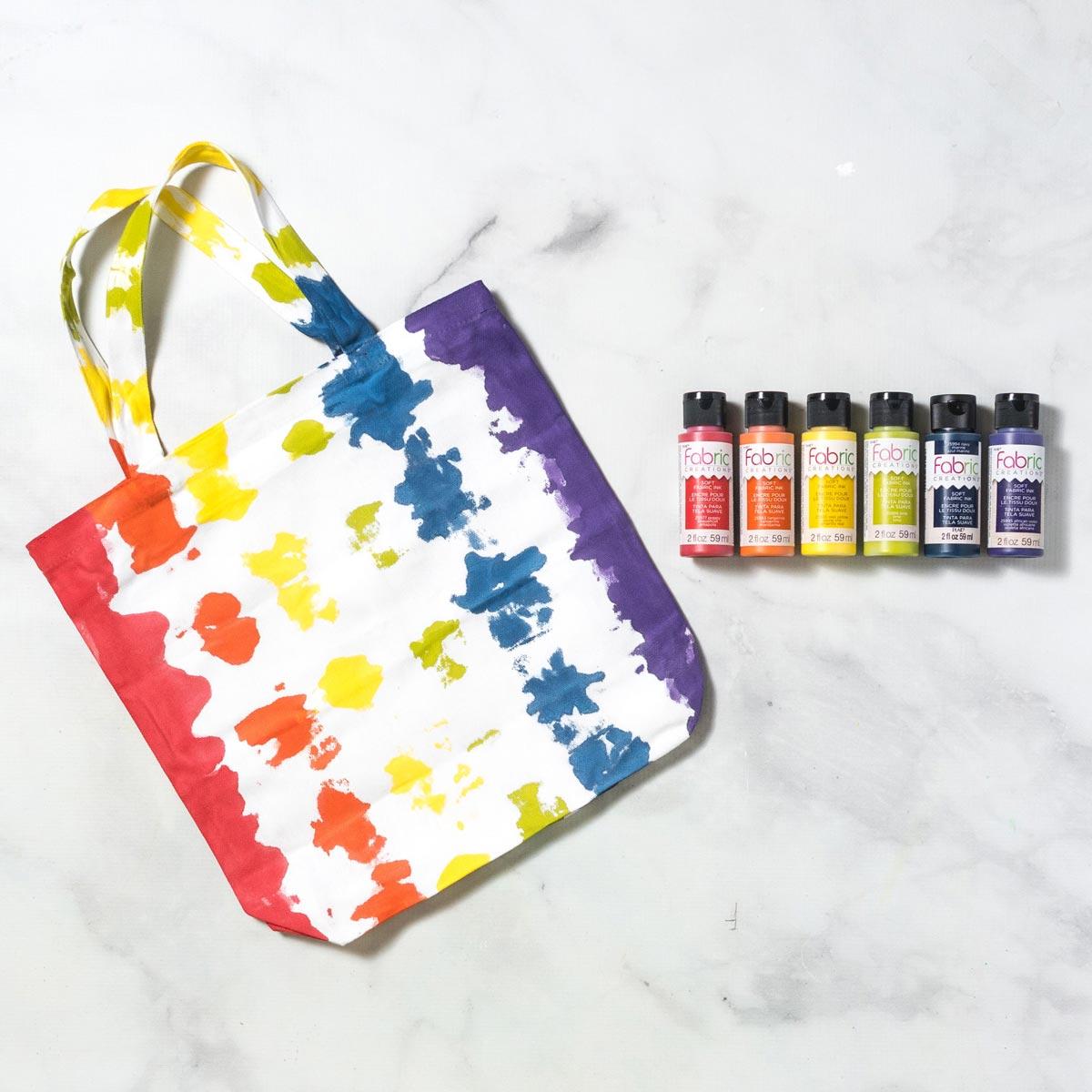Tie-Dye Rainbow Tote Bag DIY