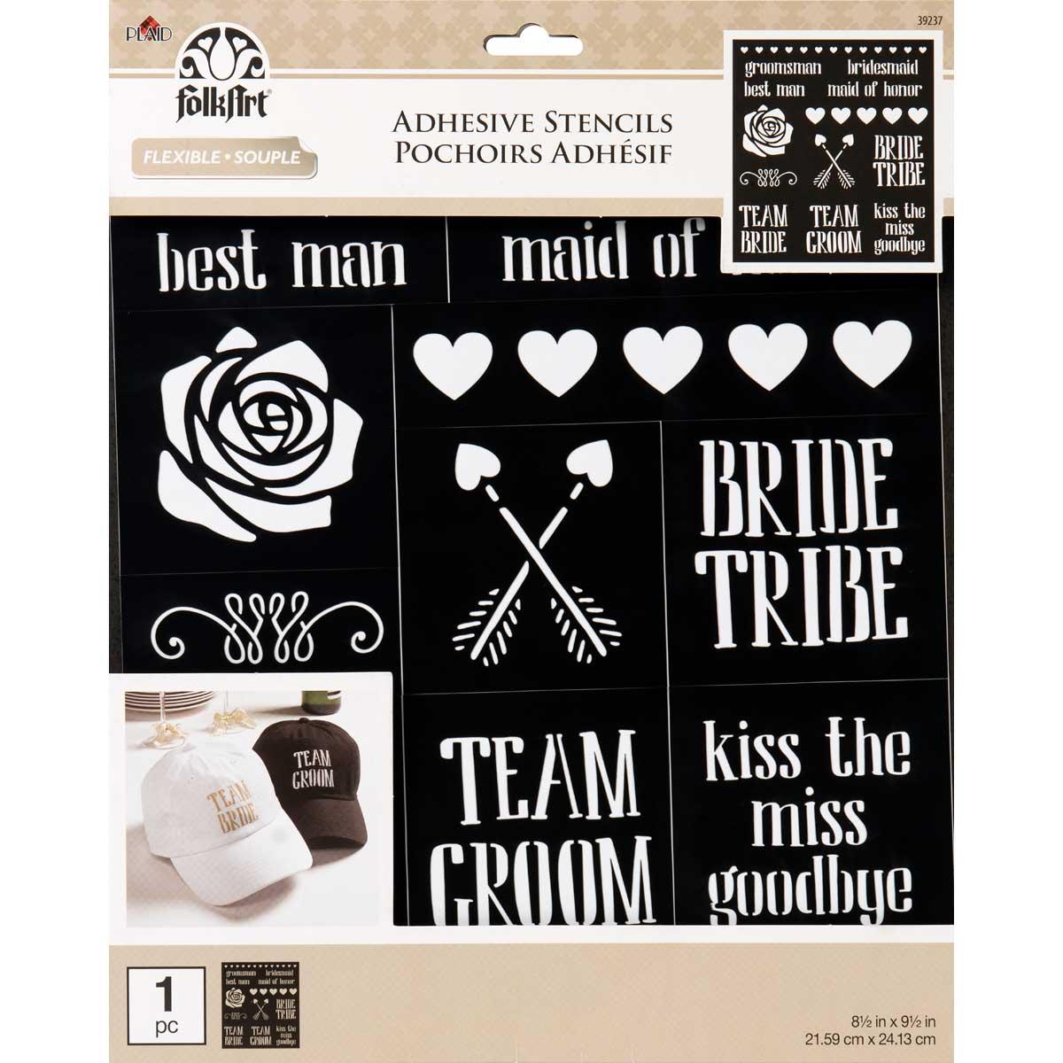 F/A LASER ADHESIVE STENCIL BRIDE TRIBE, 8.5X9.5
