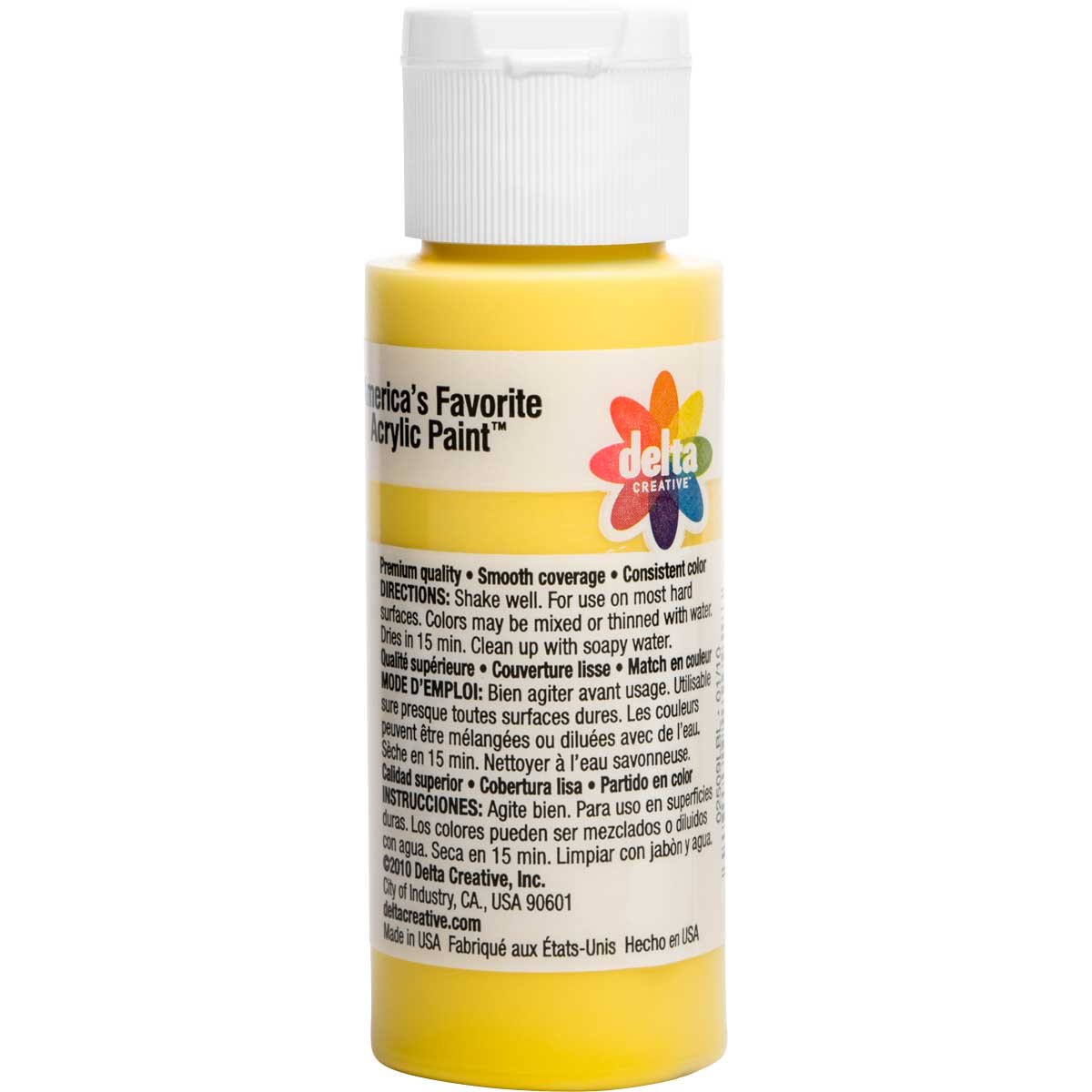 Delta Ceramcoat ® Acrylic Paint - Opaque Yellow, 2 oz. - 025090202W