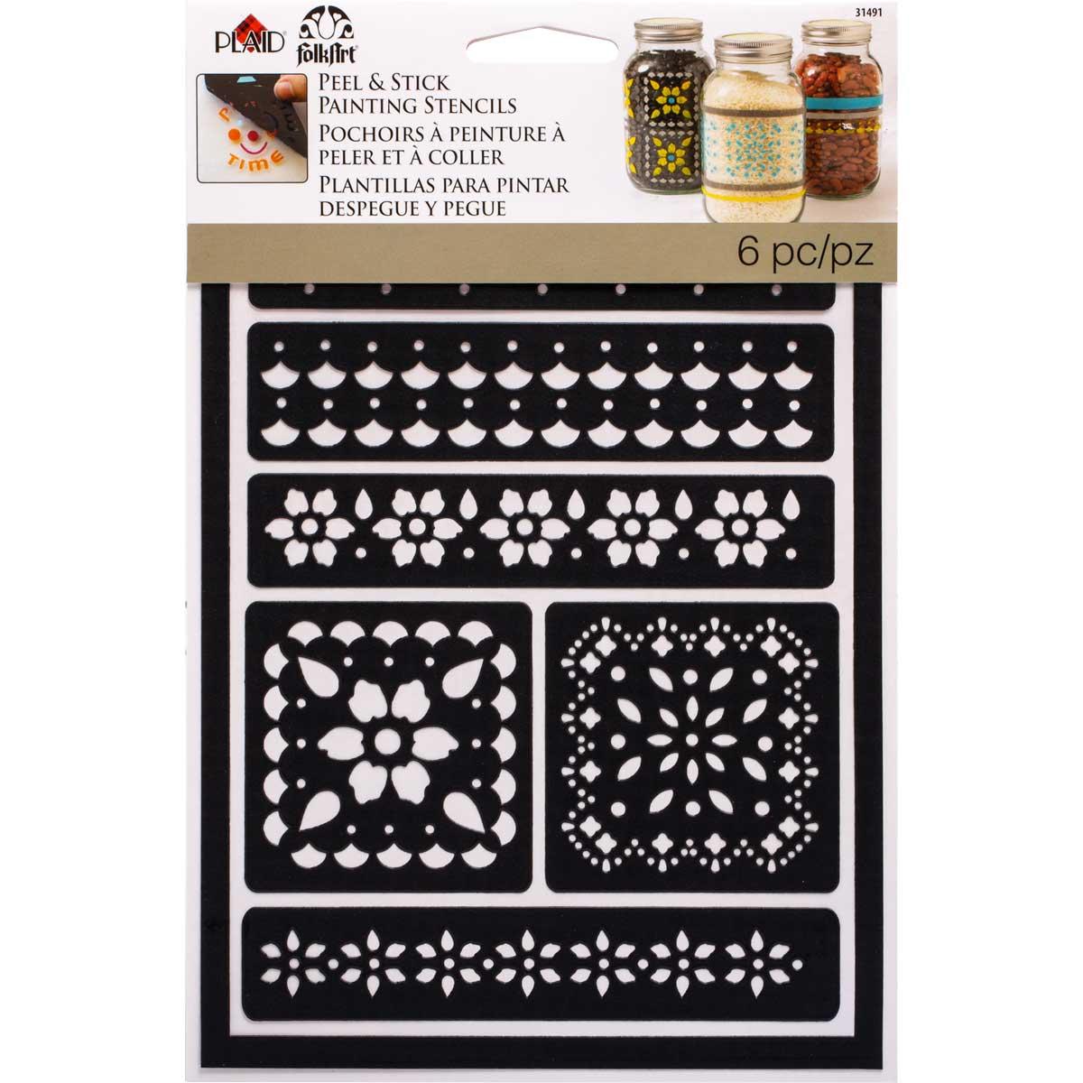 FolkArt ® Peel & Stick Painting Stencils - Lace - 31491