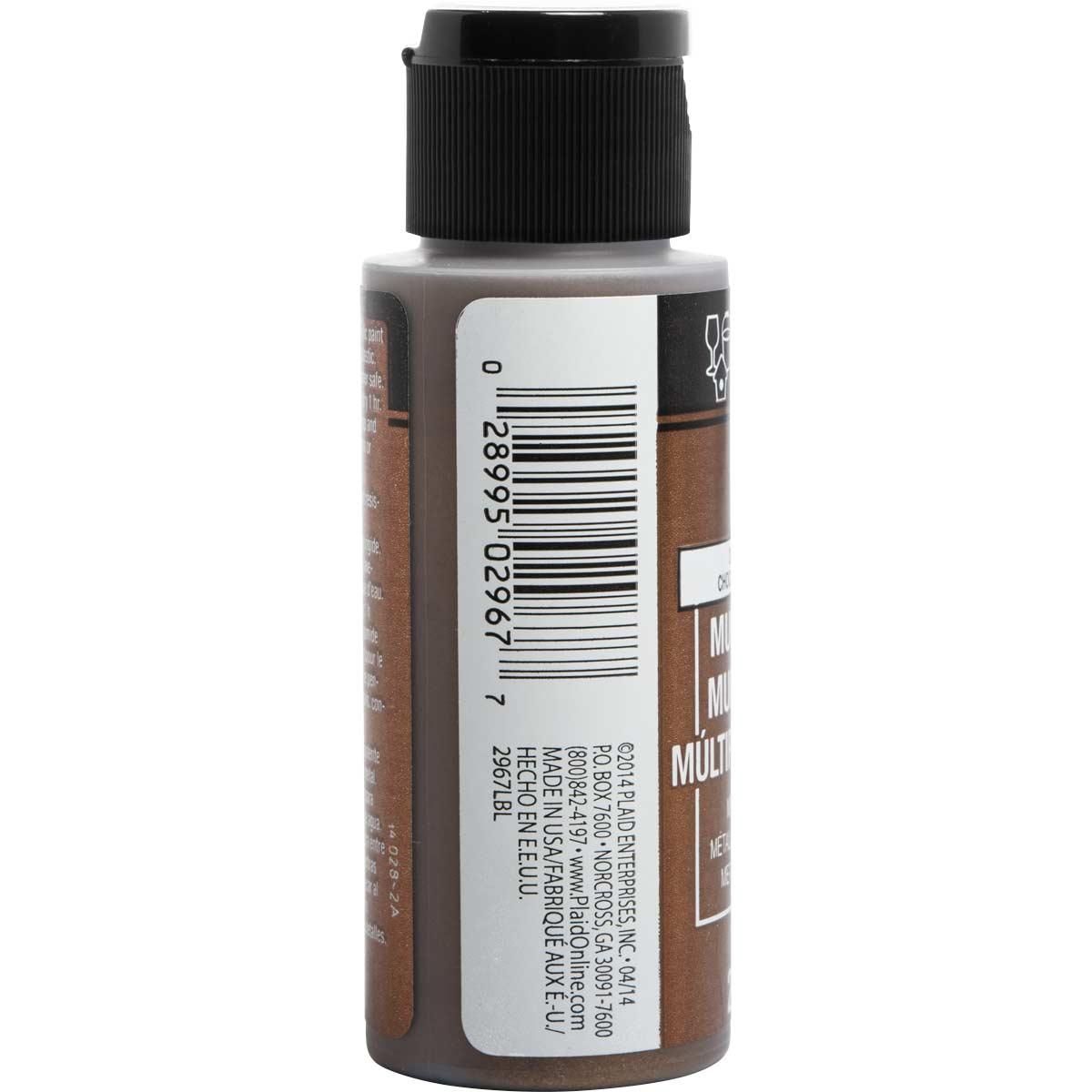 FolkArt ® Multi-Surface Metallic Acrylic Paints - Chocolate Brown, 2 oz.