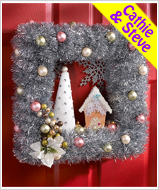 Vintage House Wreath