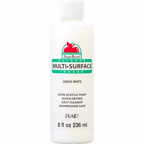 Apple Barrel ® Multi-Surface Satin Acrylic Paints - White, 8 oz. - 22461E