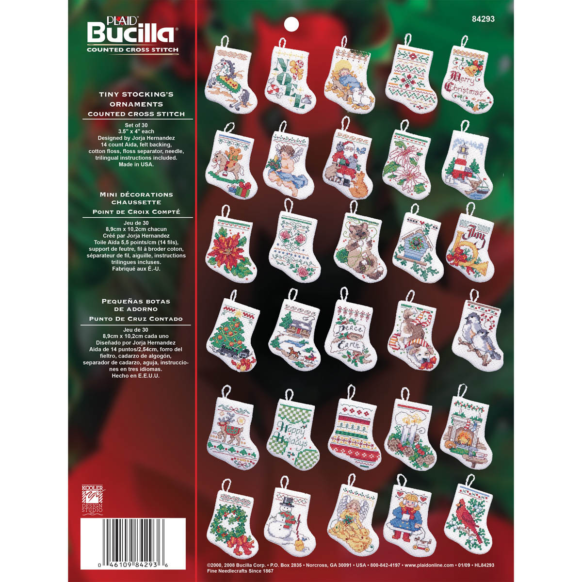 Bucilla ® Seasonal - Counted Cross Stitch - Ornament Kits - Tiny Stockings - 84293