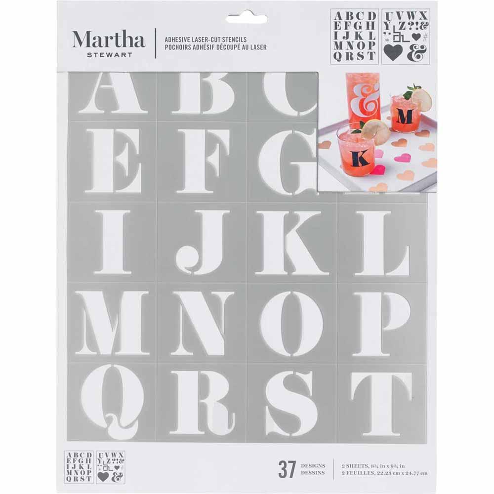Martha Stewart® Adhesive Stencil - Didot