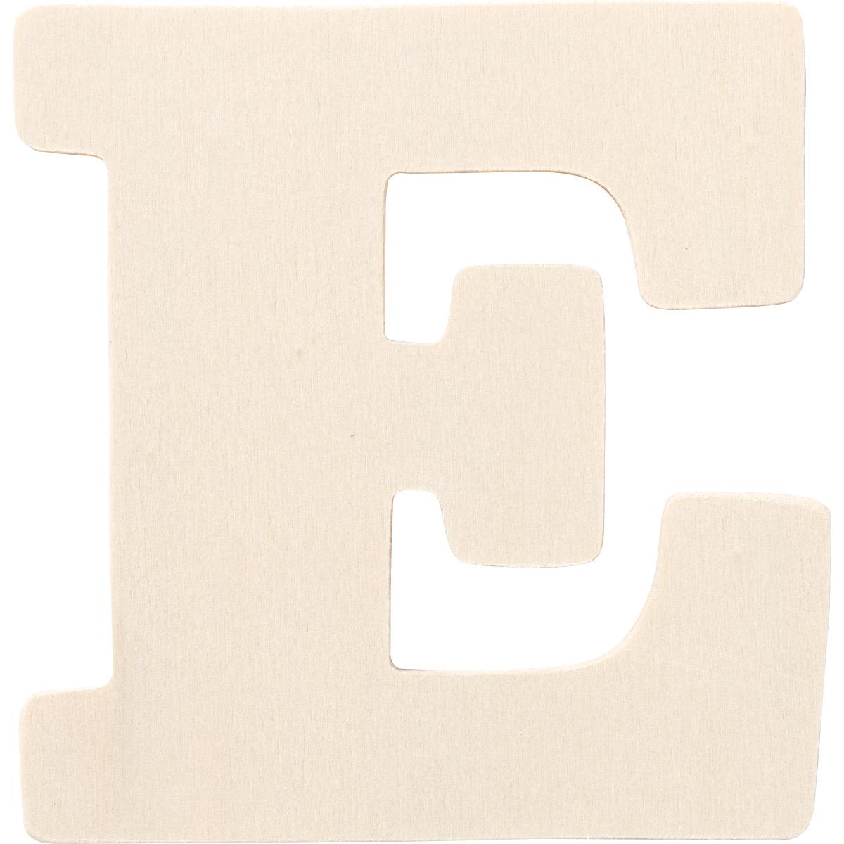 Plaid ® Painter's Palette™ Wood Letter - E. 4 inch - 23794