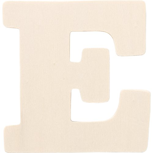 Plaid ® Painter's Palette™ Wood Letter - E. 4 inch - 23794
