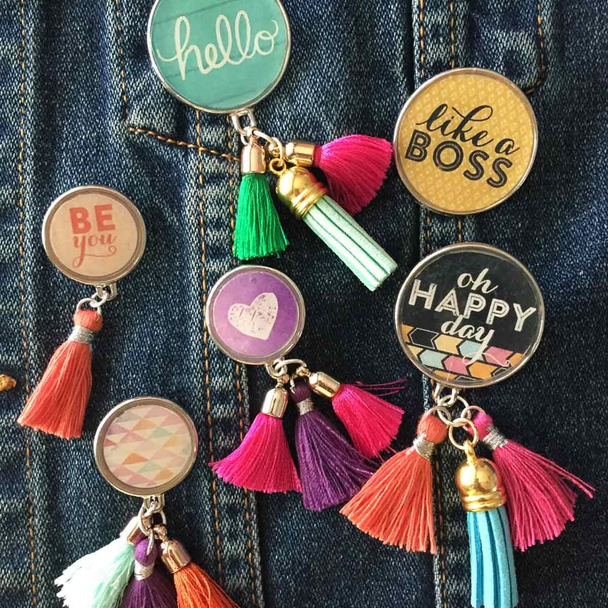 Tassel Flair Pins