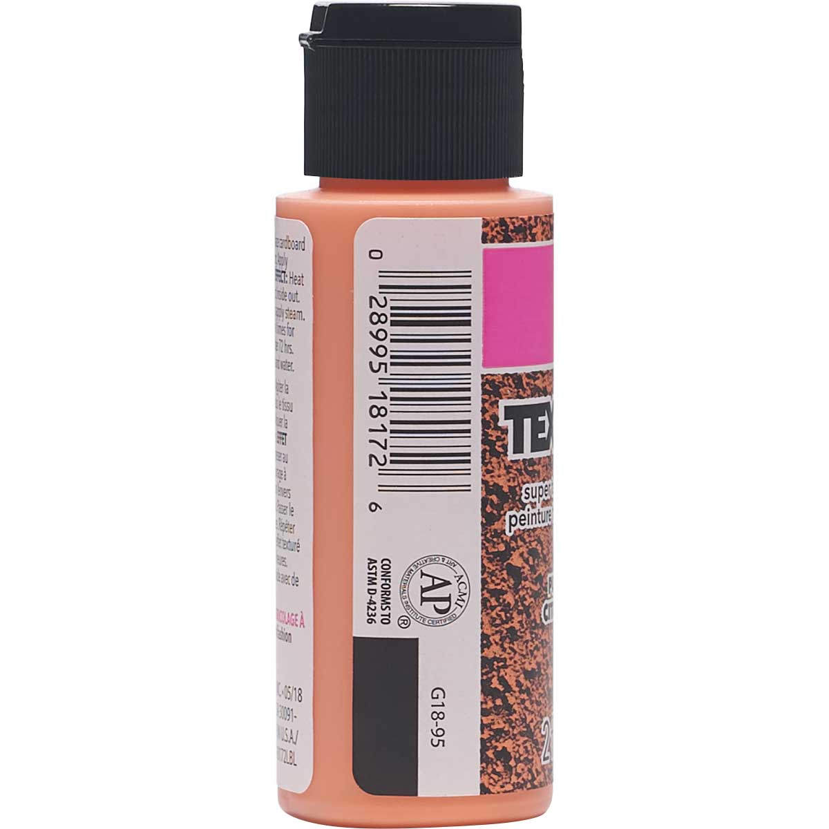 LaurDIY ® Texturific™ Fabric Paint - Pumpkin Spice, 2 oz.