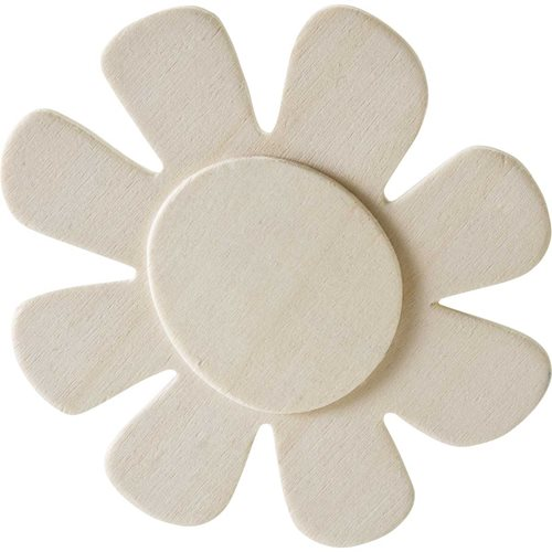 Plaid ® Wood Surfaces - Unpainted Layered Shapes - Flower, 8 Petal