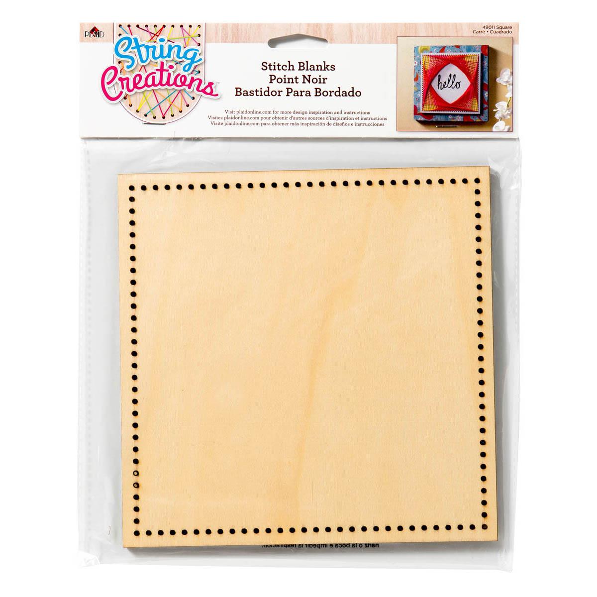 Bucilla ® String Creations™ Stitch Blanks - Square, Border Grid