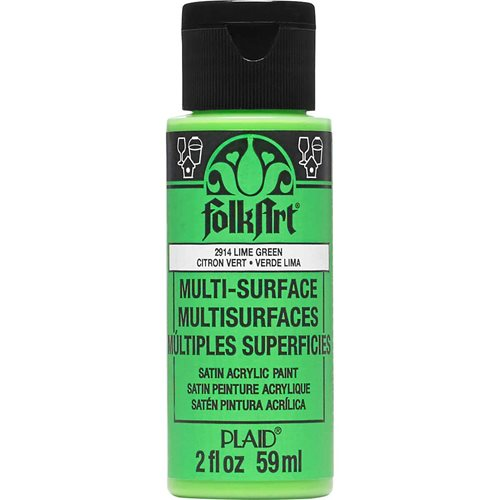 FolkArt ® Multi-Surface Satin Acrylic Paints - Lime Green, 2 oz.