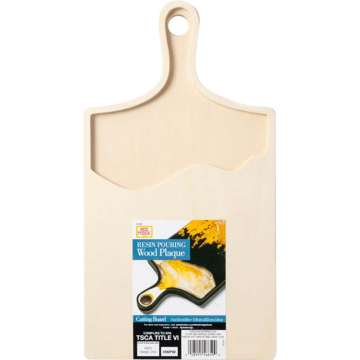 Mod Podge ® Resin Pouring Surface - Cutting Board Plaque - 56650E
