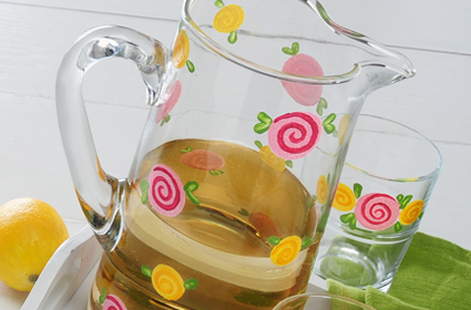 Spring Party Glassware