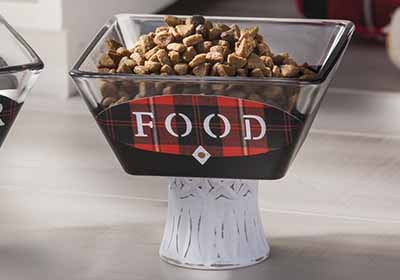 Fancy Pet Food and Water Bowls