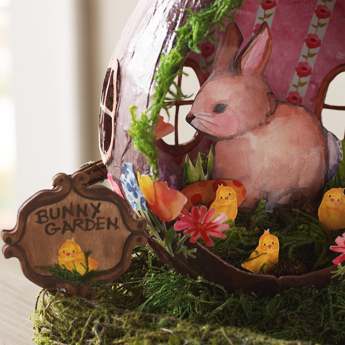 Mod Podge Easter Project: Bunny Garden