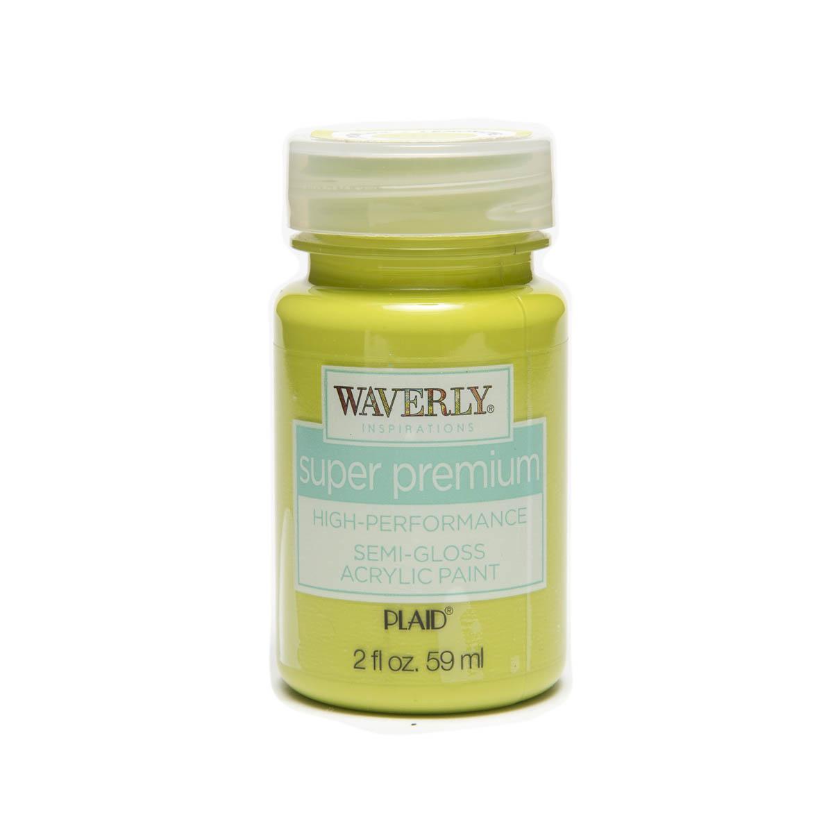 Waverly ® Inspirations Super Premium Semi-Gloss Acrylic Paint - Lemon Lime, 2 oz.