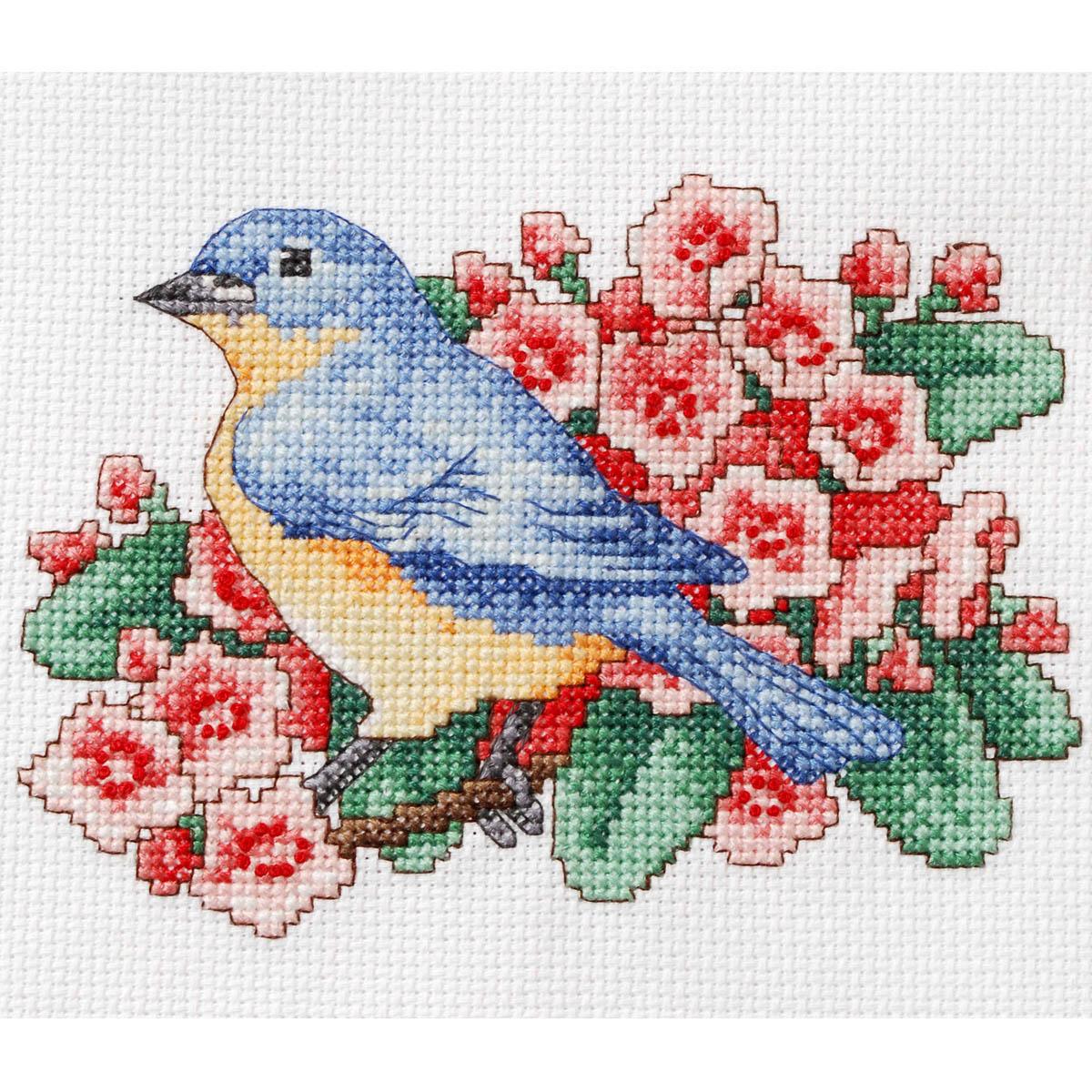 Bucilla ® Counted Cross Stitch - Picture Kits - Mini - Blue Bird - WM46265E