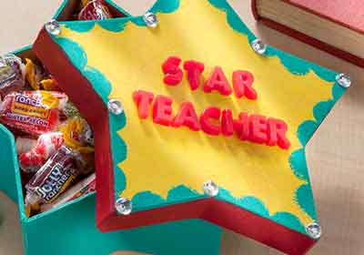 DIY Gift Box for a Star Teacher