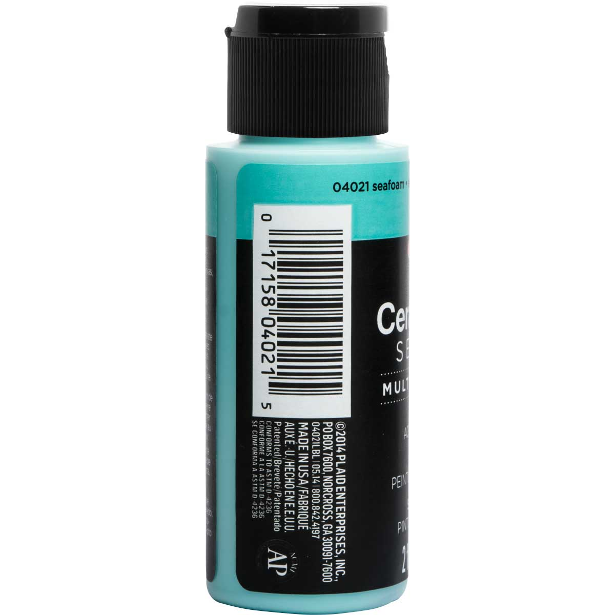 Delta Ceramcoat ® Select Multi-Surface Acrylic Paint - Satin - Seafoam, 2 oz. - 04021