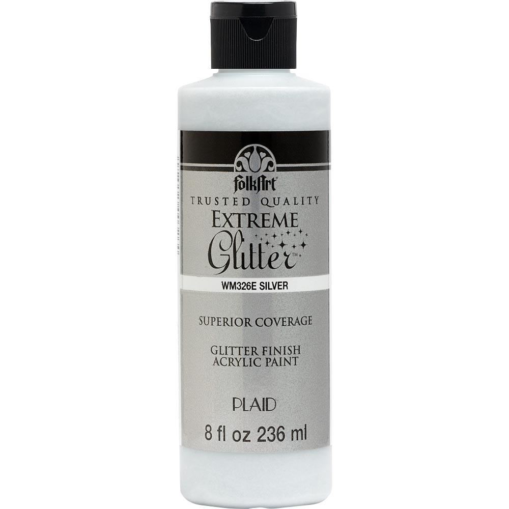 FolkArt ® Extreme Glitter™ - Silver, 8 oz.