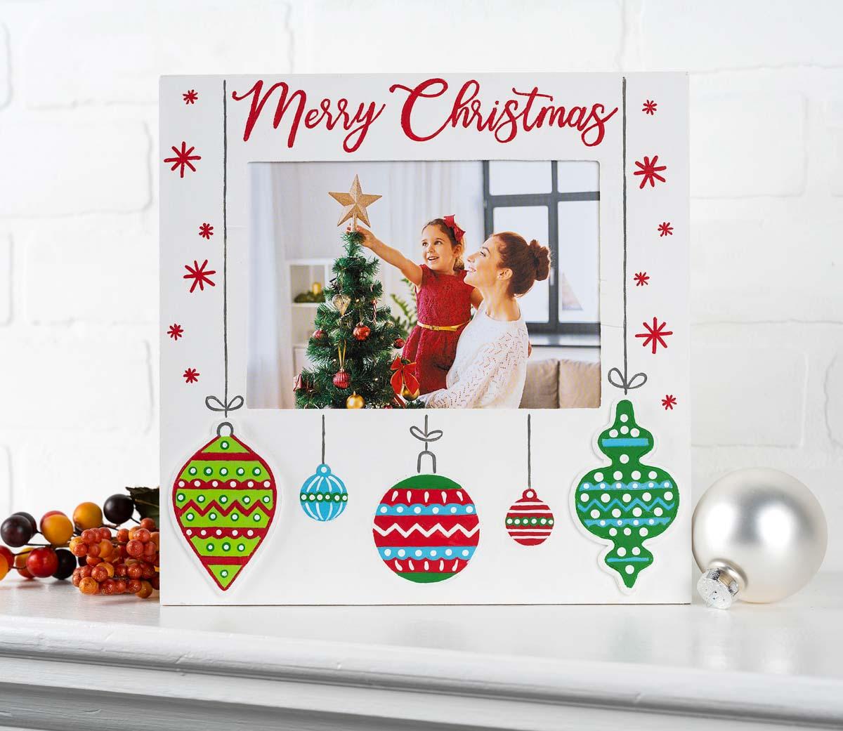 Plaid ® Wood Surfaces - Christmas Celebration Frame and Plaque - 56980