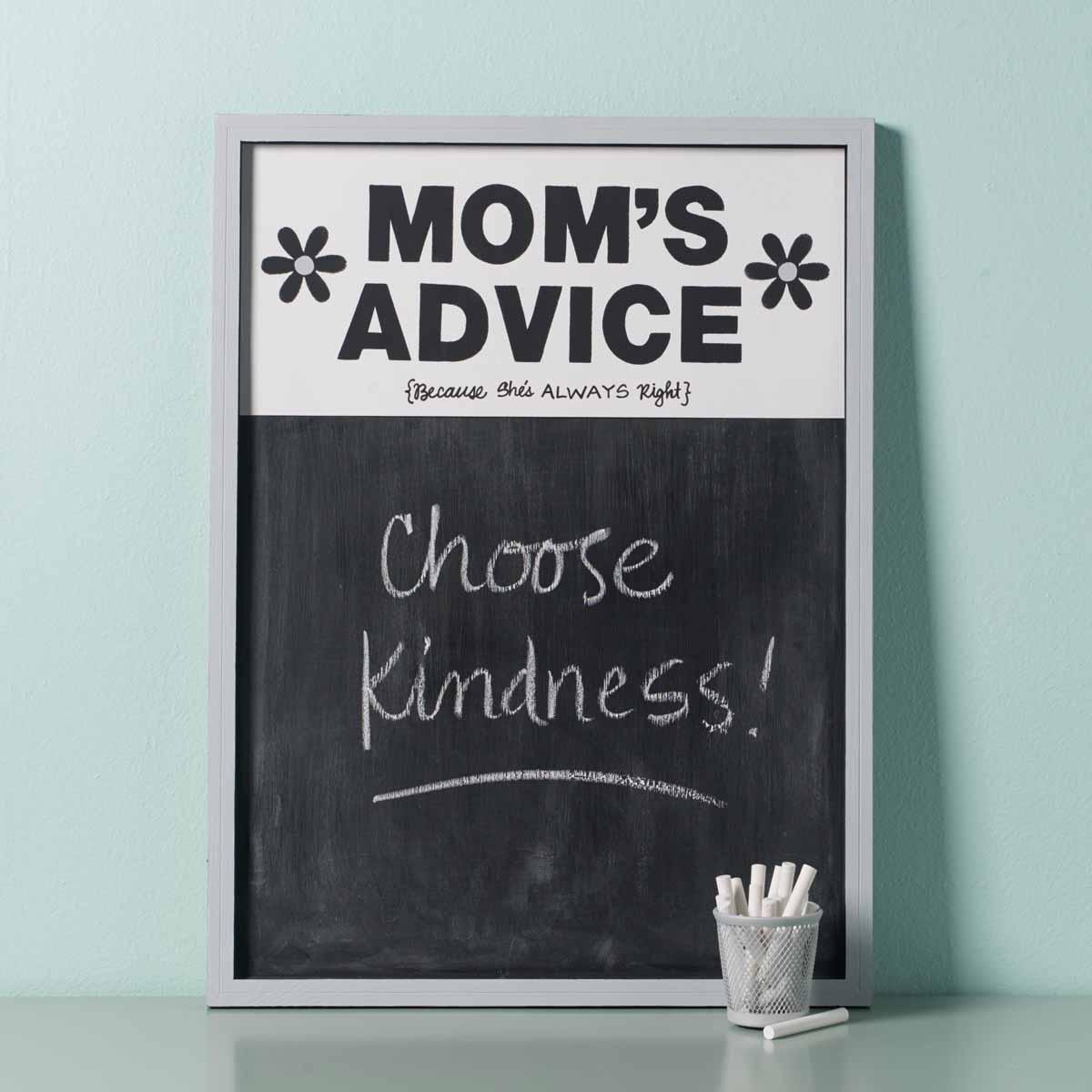 How to Make a Mom's Advice Chalkboard