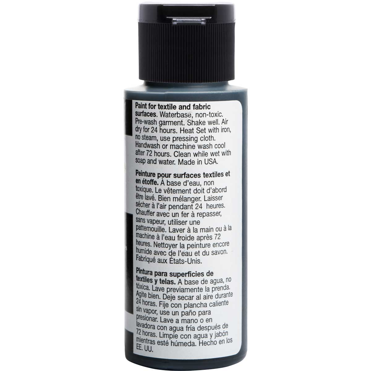 FolkArt ® Fabric™ Paint - Brush On - Licorice