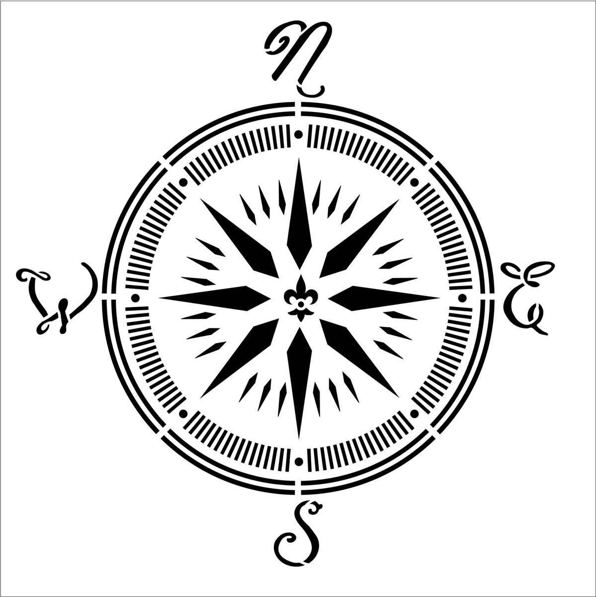 FolkArt ® Painting Stencils - Large - Compass - 31598