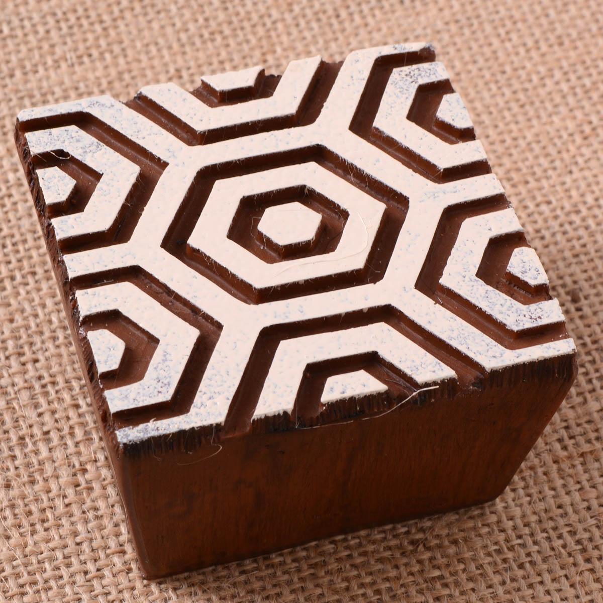 Fabric Creations™ Block Printing Stamps - Medium - Hex Honeycomb