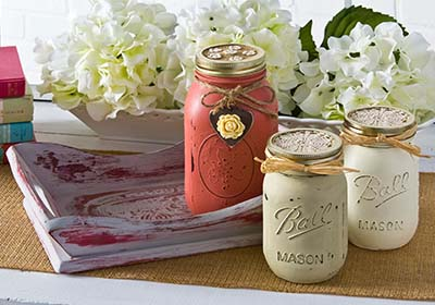 Ball Jar Chalk Paint Vases
