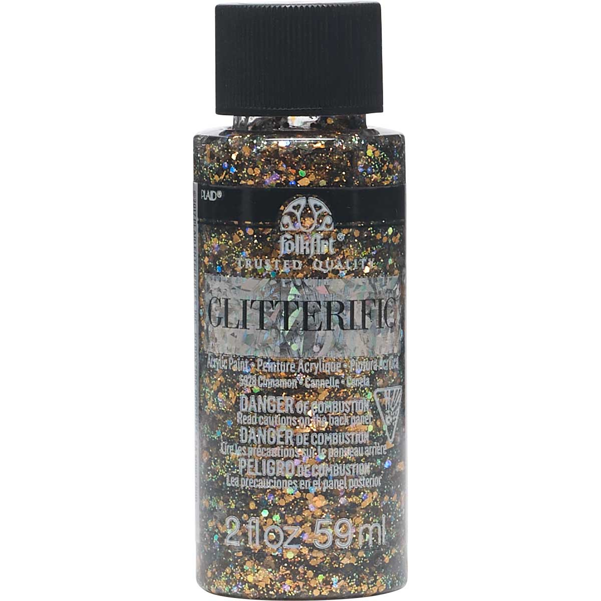 FolkArt ® Glitterific™ Acrylic Paint - Cinnamon, 2 oz. - 5928
