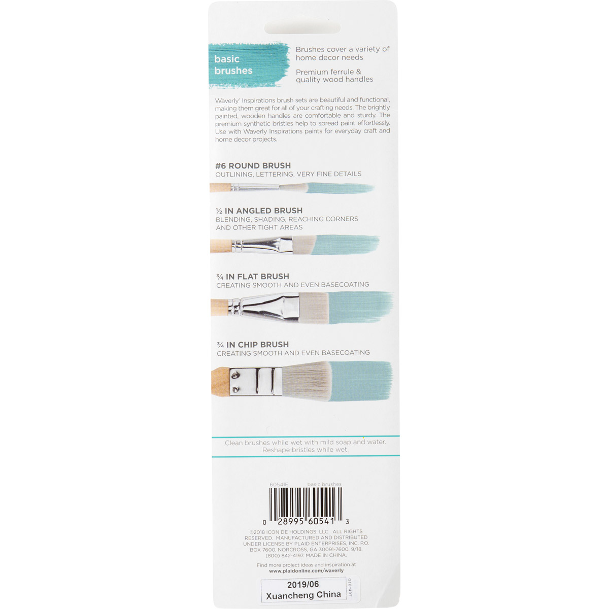 Waverly ® Inspirations Brushes - Basic Set, 4 pc. - 60541E