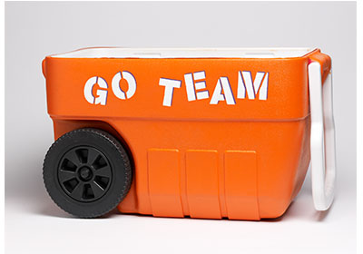 FolkArt Multi-Surface Football Cooler