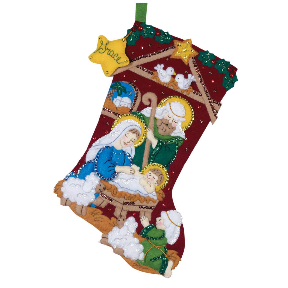 Bucilla ® Seasonal - Felt - Stocking Kits - Nativity