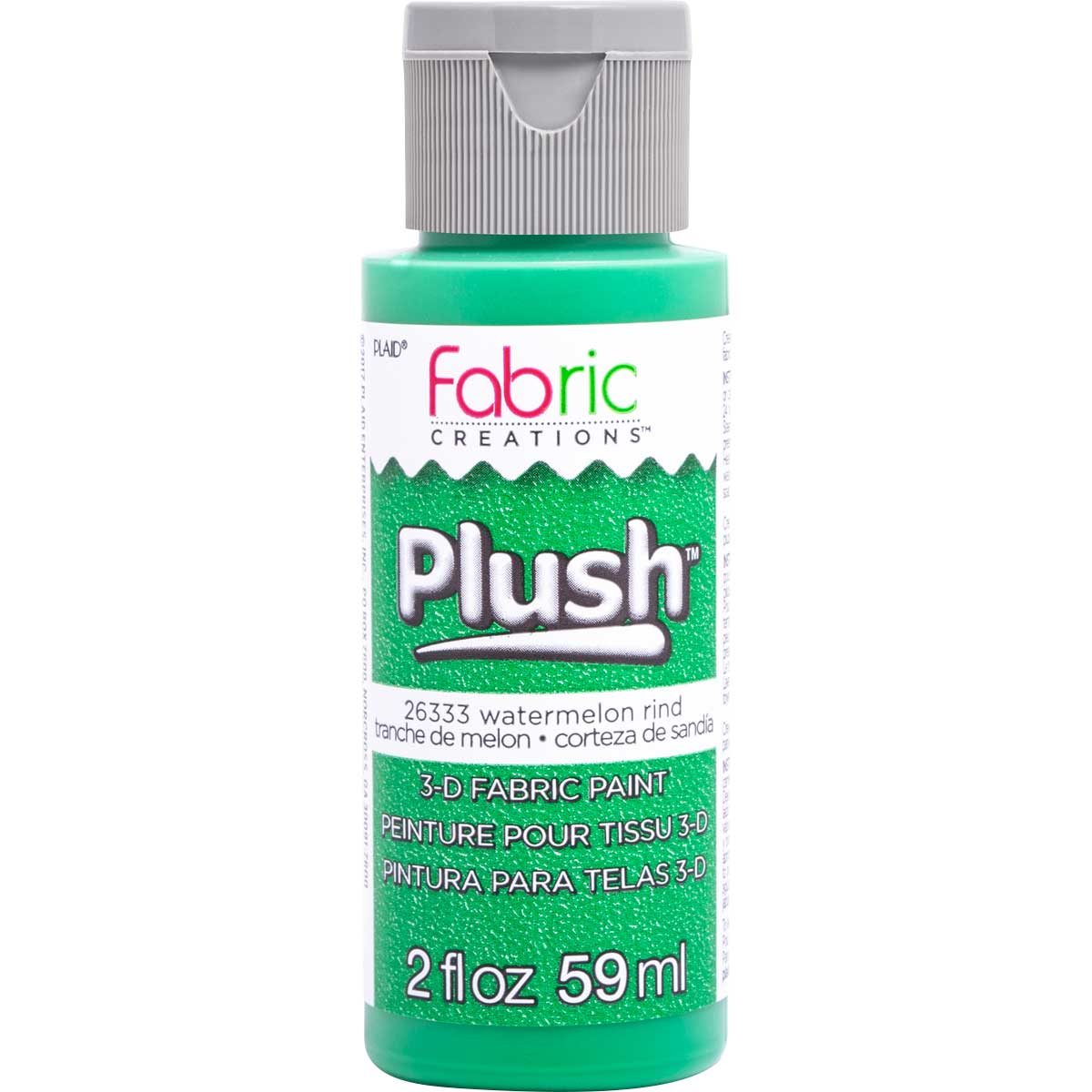 Fabric Creations™ Plush™ 3-D Fabric Paints - Watermelon Rind, 2 oz.