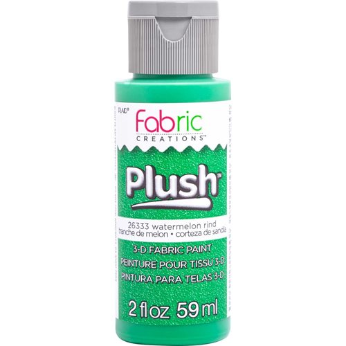 Fabric Creations™ Plush™ 3-D Fabric Paints - Watermelon Rind, 2 oz. - 26333