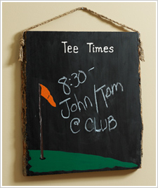 'Tee Time!' Plaque