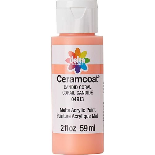 Delta Ceramcoat ® Acrylic Paint - Candid Coral, 2 oz. - 04913