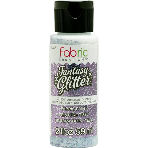 Fabric Creations™ Fantasy Glitter™ Fabric Paint - Pegasus Purple, 2 oz.